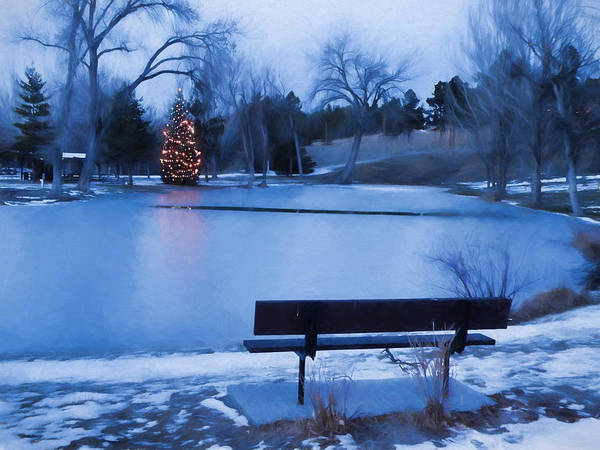 Photograph - Christmas At The Pond by HW Kateley