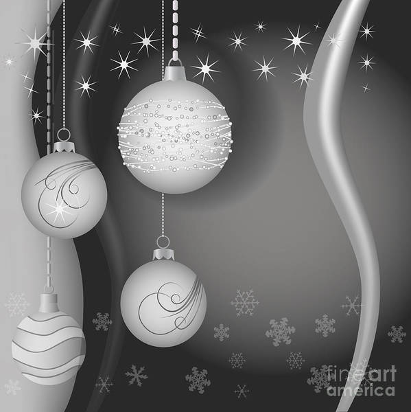Bauble Digital Art - Christmas Background by Michal Boubin