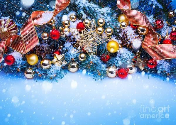 Photograph - Christmas Balls On Tree by Doc Braham