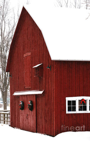 Photograph - Christmas Barn 2 by Linda Shafer