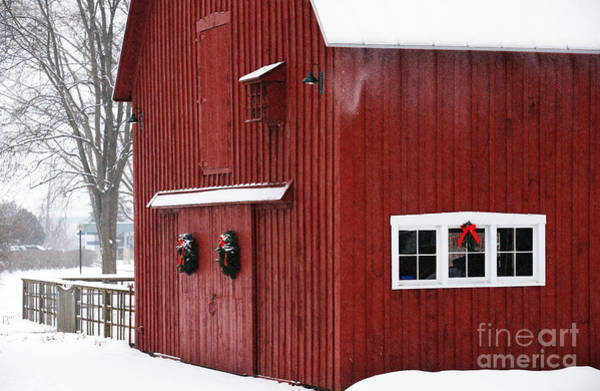Photograph - Christmas Barn 3 by Linda Shafer