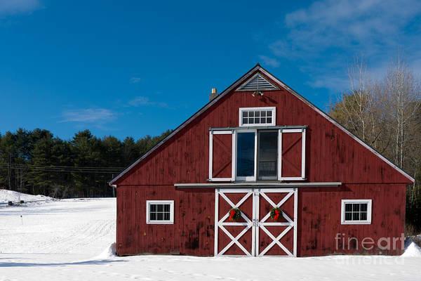 Wall Art - Photograph - Christmas Barn by Edward Fielding