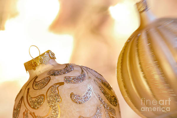 Weihnachten Photograph - Christmas Baubles by Sabine Jacobs