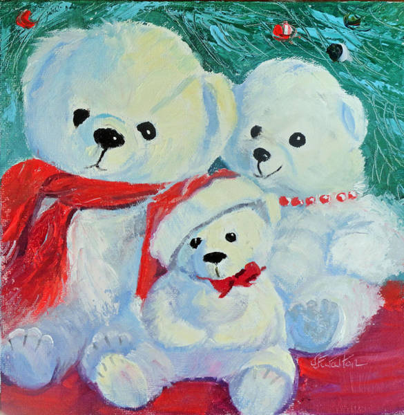 Painting - Christmas Bears by Judy Fischer Walton