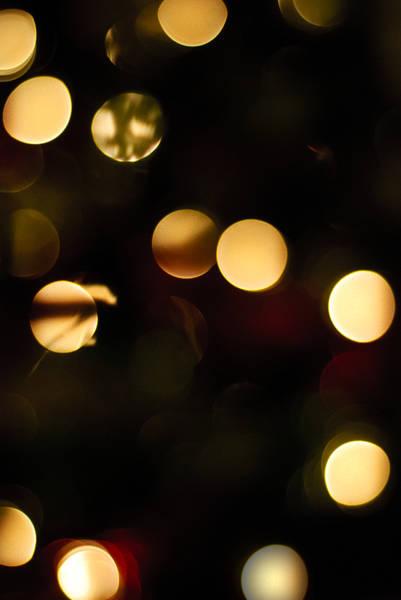 Photograph - Christmas Bokeh by Christi Kraft