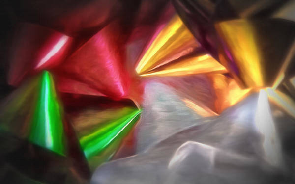Christmas Season Wall Art - Photograph - Christmas Bows Abstract - Topaz  by Steve Ohlsen