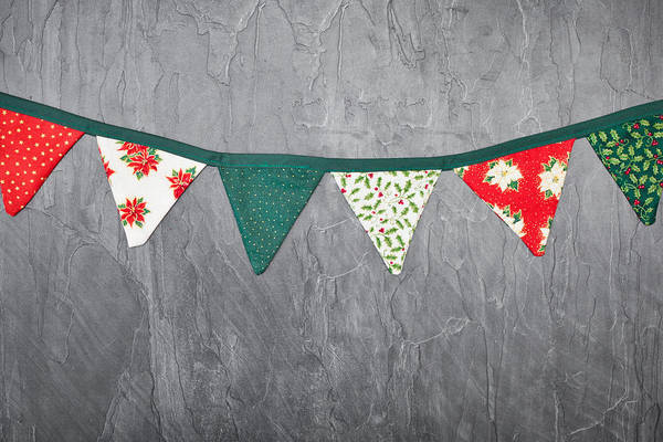 Bunting Photograph - Christmas Bunting by Tom Gowanlock