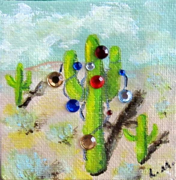 Painting - Christmas Cactus by Laurie Morgan