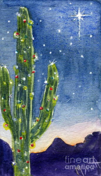 Star Of Bethlehem Painting - Christmas Cactus by Marilyn Smith