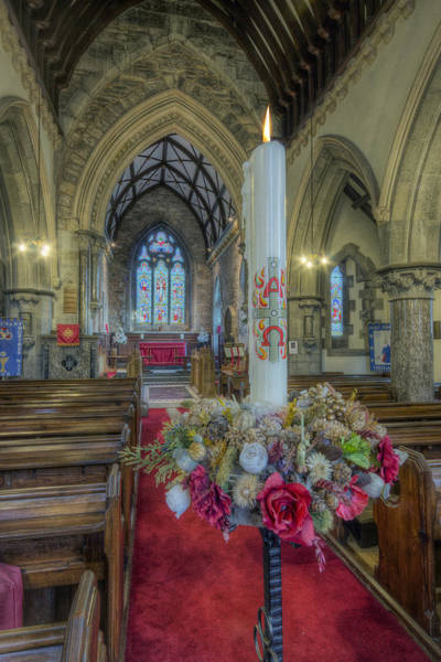 Photograph - Christmas Candle by Ian Mitchell