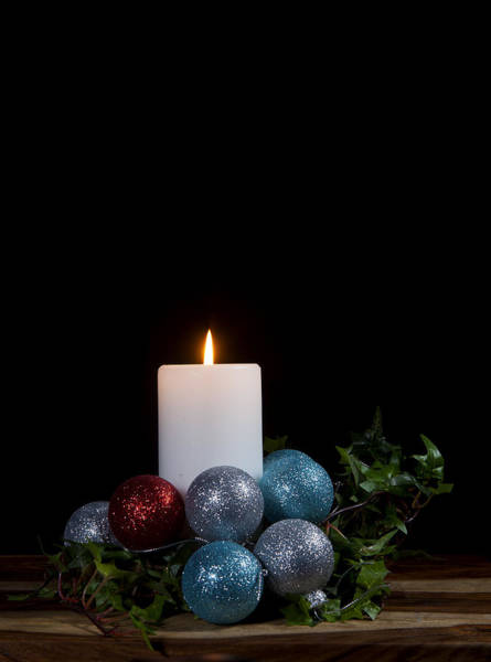 Wall Art - Photograph - Christmas Candle2 by Cecil Fuselier
