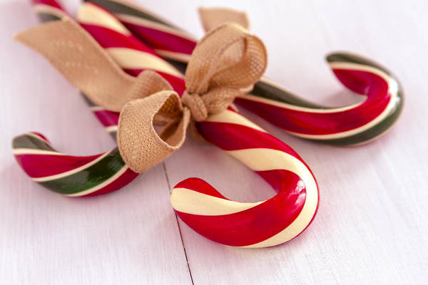 Photograph - Christmas Candy Canes by Teri Virbickis