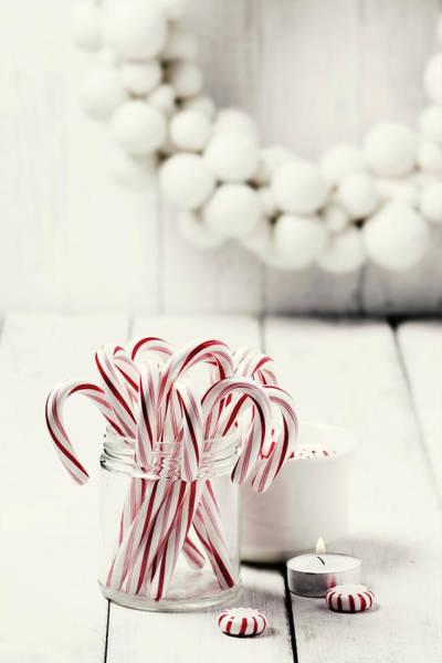 Jar Photograph - Christmas Candy by Claudia Totir