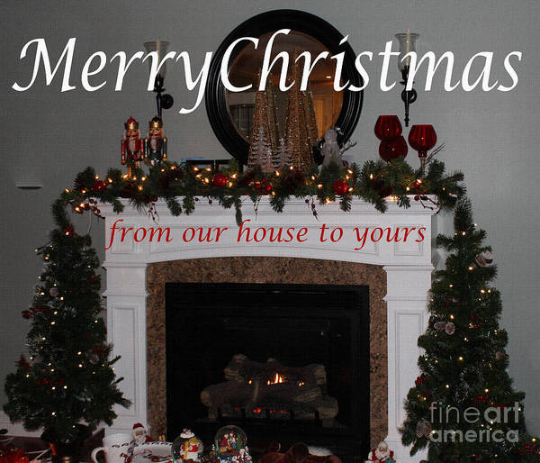 Carol Singing Photograph - Christmas Card 6 by Barbara Griffin