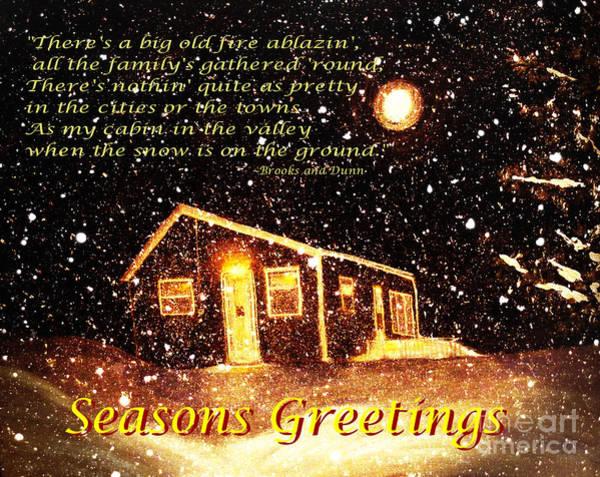 Carol Singing Photograph - Christmas Card 9 by Barbara Griffin