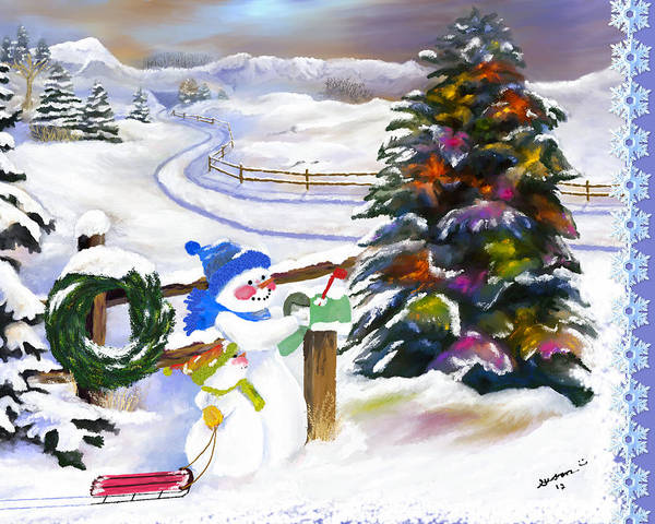 Painting - Christmas Cards In The Mail by Susan Kinney