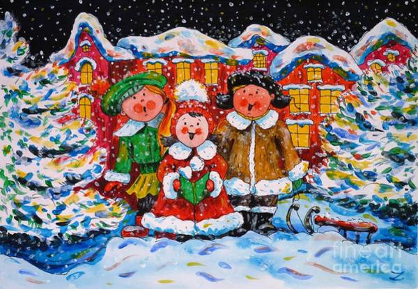 It Professional Painting - Christmas Carol by Zaira Dzhaubaeva