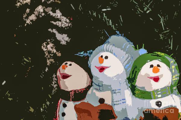 Carol Singing Photograph - Christmas Carols by Lynn Sprowl