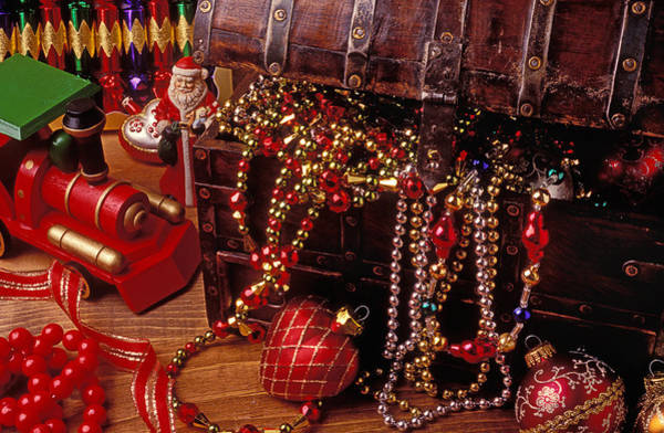 Chest Photograph - Christmas Chest Full Of Beads by Garry Gay