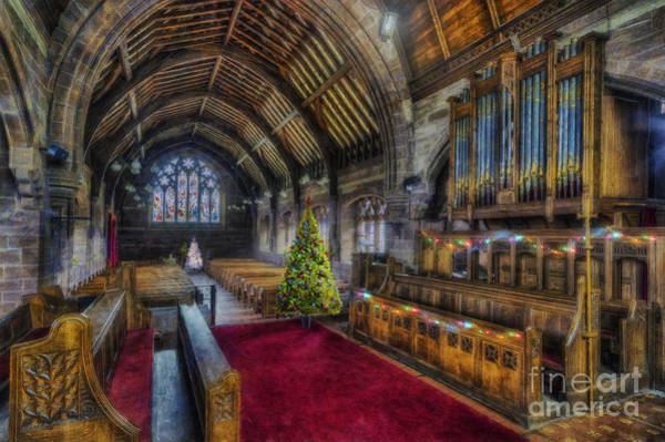 Photograph - Christmas Church Service by Ian Mitchell