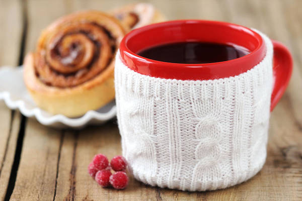 Cinnamon Buns Photograph - Christmas Coffee by Jelena Vasjunina
