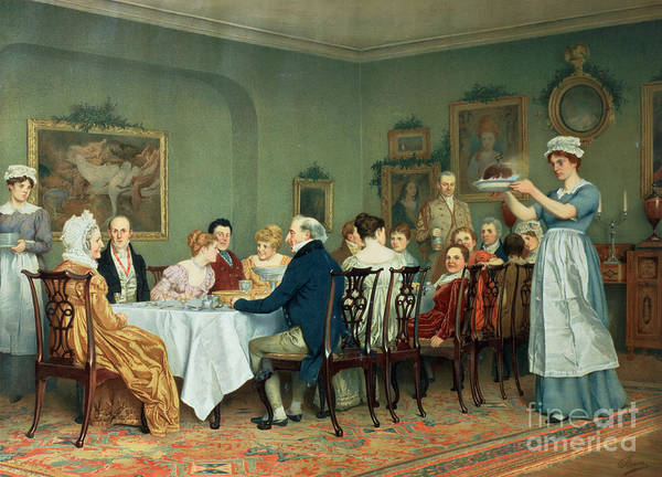 Annual Painting - Christmas Comes But Once A Year by Charles Green