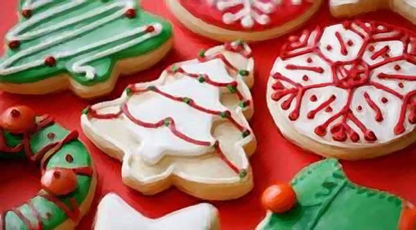 Icing Digital Art - Christmas Cookies by Shere Crossman