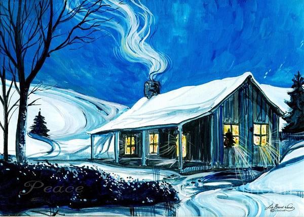 Painting - Christmas Cottage by Lizi Beard-Ward