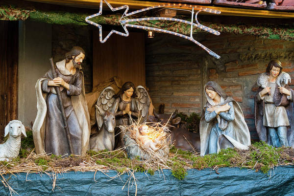 Little Italy Photograph - Christmas Crib At Piazza Duomo by Nico Tondini