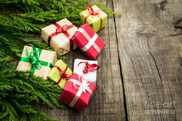 Gift Wrap Photograph - Christmas Decoration by Aged Pixel