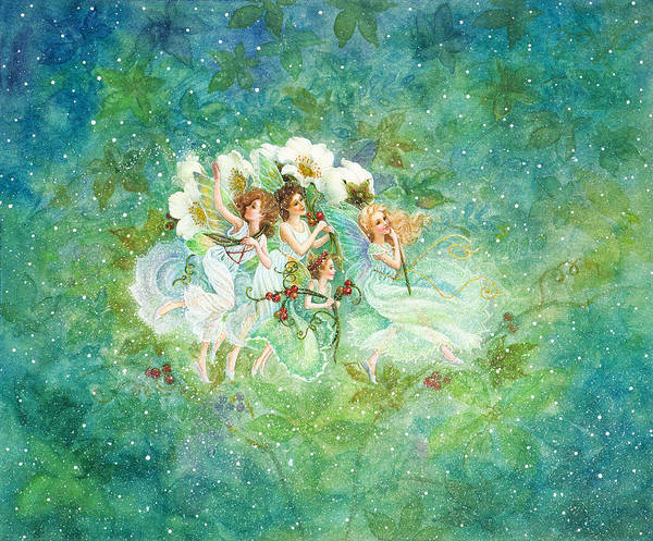 Christmas Fairies Art Print