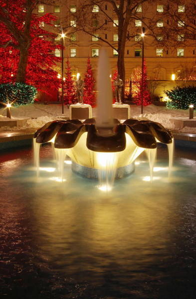 Photograph - Christmas Fountain by David Andersen