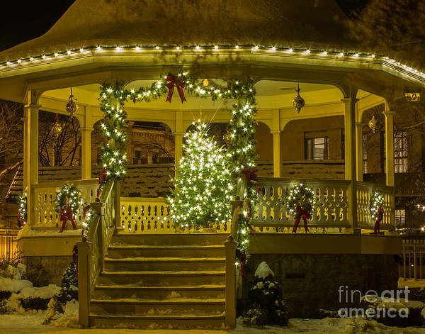 Photograph - Christmas Gazebo by Rod Best