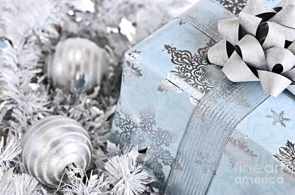 Gift Wrap Photograph - Christmas Gift Box And Decorations by Elena Elisseeva