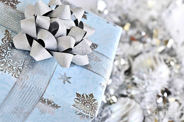 Gift Wrap Photograph - Christmas Gift Box by Elena Elisseeva