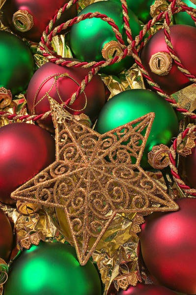 Fancy Photograph - Christmas Gold Star by Garry Gay
