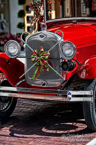 Photograph - Christmas Grillwork by Christopher Holmes