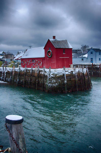 Photograph - Christmas In Rockport Massachusetts by Jeff Folger