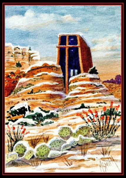 Smith Rock Painting - Christmas In Sedona by Marilyn Smith