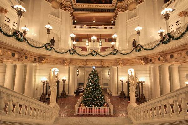 Photograph - Christmas In The Rotunda by Shelley Neff