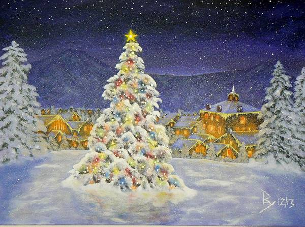 Painting - Christmas In The Valley by Ray Nutaitis