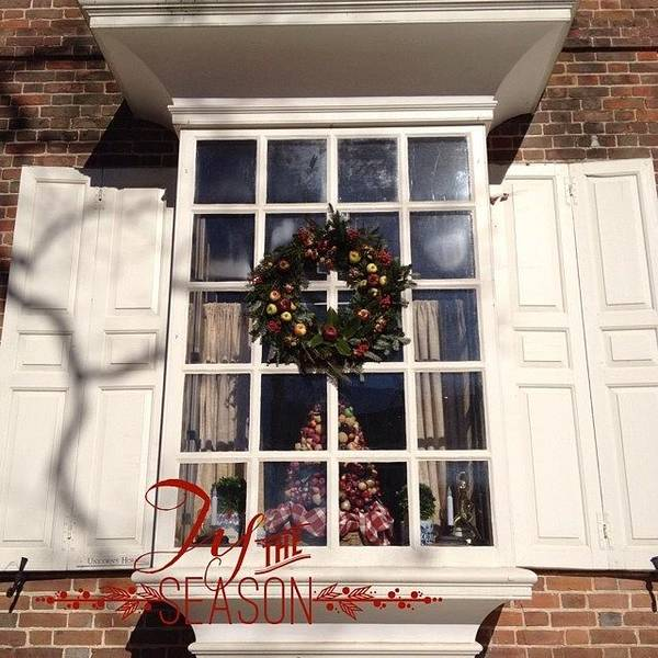 Holiday Wall Art - Photograph - #christmas In #williamsburg #lovely by Teresa Mucha