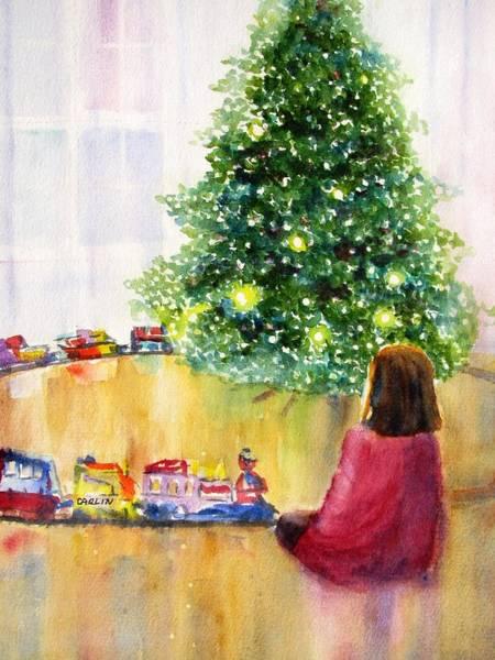 Design Painting - Christmas Lights by Carlin Blahnik CarlinArtWatercolor