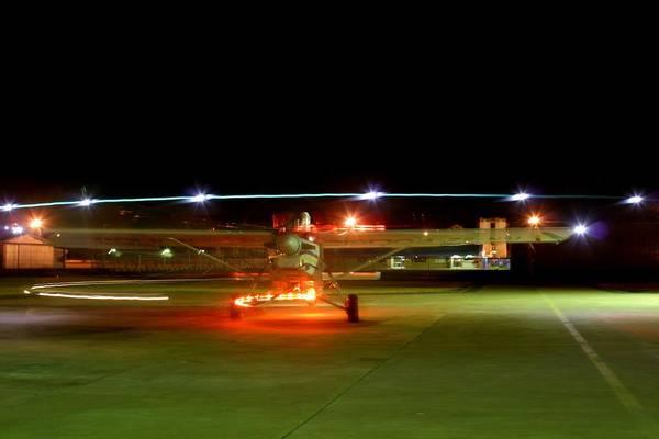 Kimberley Airport Photograph - Christmas Lights II by Paul Job