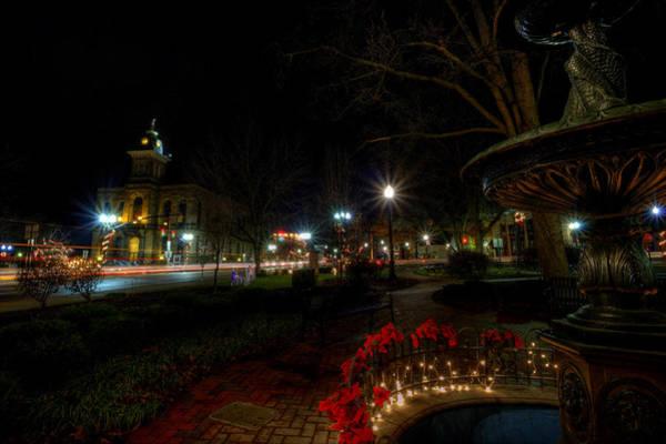 Photograph - Christmas Lights Of Lisbon Ohio by David Dufresne