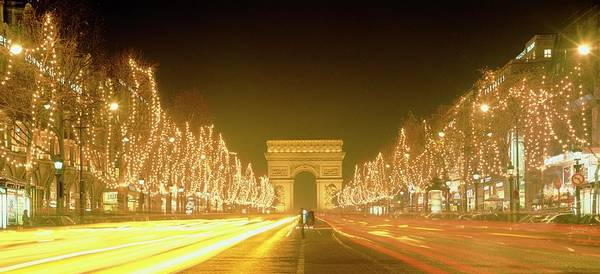 Champ Photograph - Christmas Lights On The Champs Elysees by Alex Bartel/science Photo Library