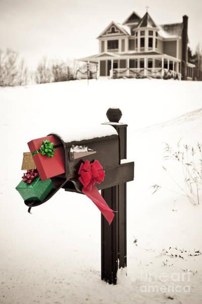 Wall Art - Photograph - Christmas Mailbox by Diane Diederich