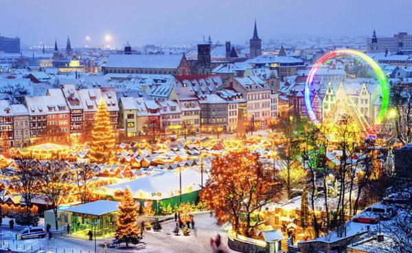 Christmas Market Erfurt Art Print