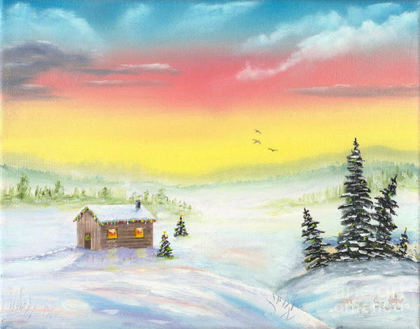 Painting - Christmas Morning by Mary Scott