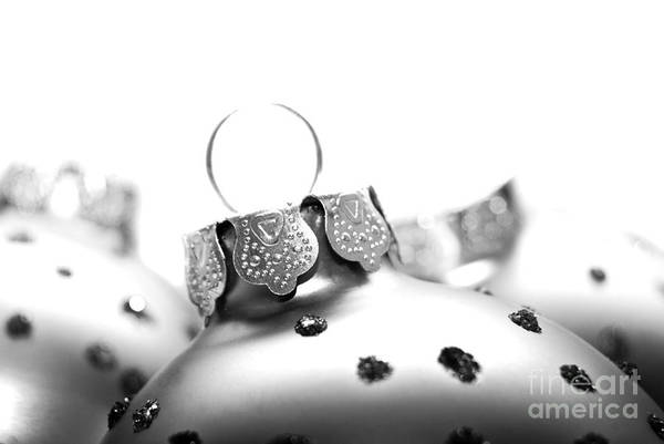 Weihnachten Photograph - Christmas Ornaments Monochrome by Sabine Jacobs